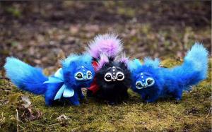 Ekaterina, gakman.e on Instagram's polymer stuffed animal toys