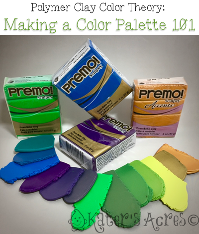 Learn How to Make a Color Palette 101 for Polymer Clay by Katie Oskin