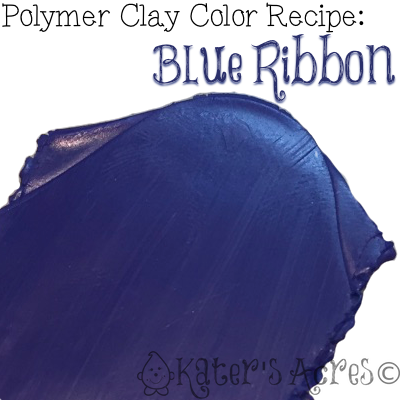 Polymer Clay Color Recipe for Blue Ribbon by KatersAcres