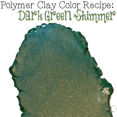 Dark Green Shimmer Premo Polymer Clay Color Recipe by KatersAcres