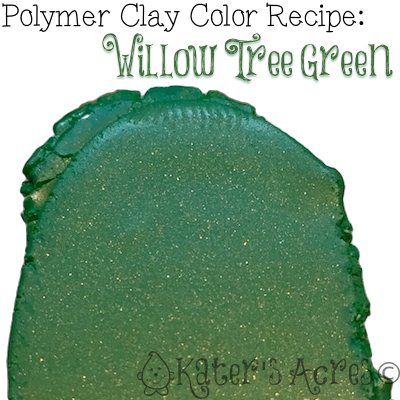 Polymer Clay Color Recipe for Willow Tree Green by KatersAcres