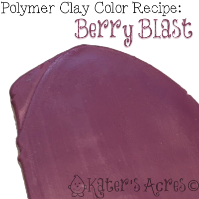 Polymer Clay Color Recipe for BERRY BLAST by KatersAcres