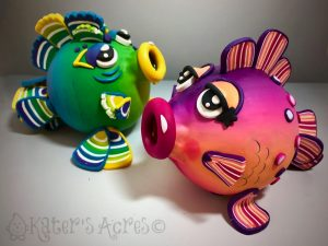 Puffed Fish Duo by Katie Oskin