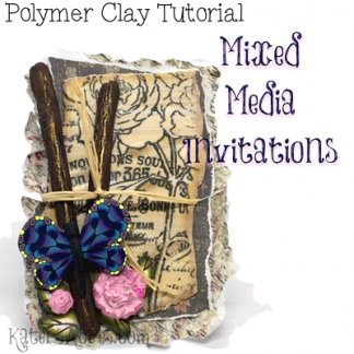 Polymer Clay Mixed Media Invitations Tutorial by KatersAcres