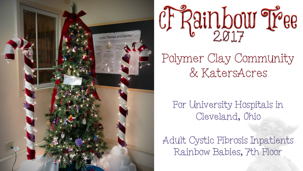 The 2017 #CFRainbowTree from KatersAcres & the Polymer Clay Community