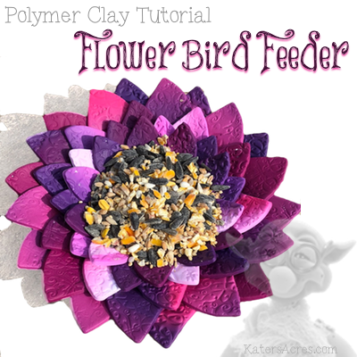 Flower Bird Feeder Polymer Clay Tutorial by KatersAcres
