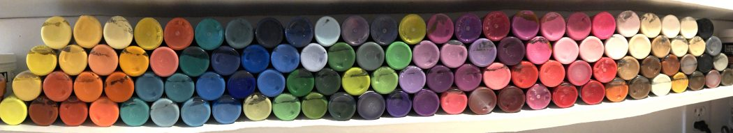 Craft Paint Shelf in KatersAcres Studio