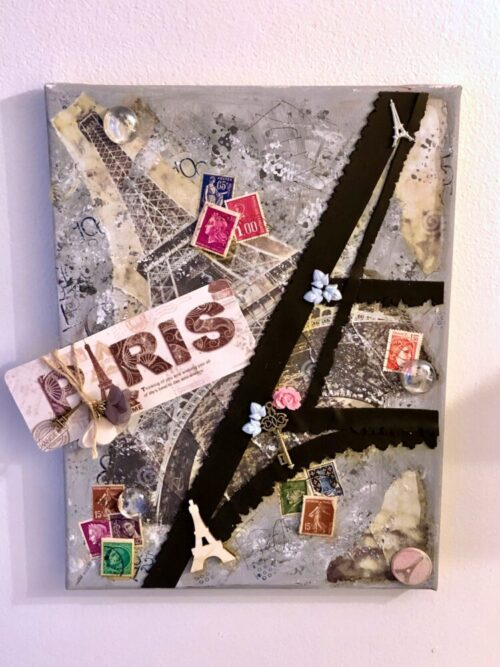 Paris Mixed Media Background by Katie Oskin