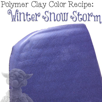 Winter Snow Storm Polymer Clay Color Recipe